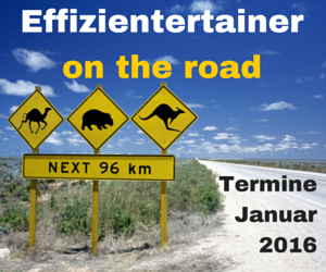 Effizientertainer on the road